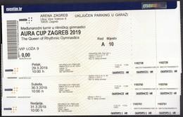 Croatia 2019 / AURA CUP ZAGREB / The Queen Of Rhythmic Gymnastics / Entry Tickets - Gymnastics