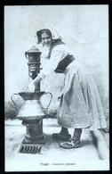 FIUGGI - FROSINONE - 1929 - COSTUME PAESANO - DONNA ALLA FONTANA - SPEDITA DA TRIVIGLIANO - Costumi