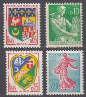 FRANCE - 1960/1961 - Lotto Formato Da 4 Valori Nuovi: Yvert 1230A E 1231 MH, 1232 E 1233 MNH. - France