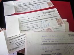 1927-KOHLER Albert BAR DÉBIT TABACS FOND COMMERCE 66 Rue GRIGNAN MARSEILLE 12 LETTRE CHANGE REÇUS-Facture Doc Commercial - Bills Of Exchange