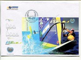 CARLOS ESPINOLA, WINDSURF, IDOLOS DEL DEPORTE ARGENTINO. ARGENTINA AÑO 2011 SOBRE DIA DE EMISION ENVELOPE FDC - LILHU - Stamps
