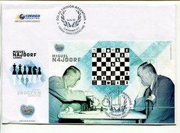 MIGUEL NAJDORF, AJEDREZ, IDOLOS DEL DEPORTE ARGENTINO. ARGENTINA AÑO 2011 SOBRE DIA DE EMISION ENVELOPE FDC - LILHU - Chess