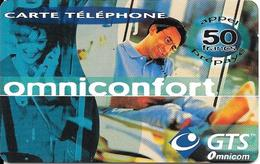CARTE PREPAYEE-OMNICOM-50F-CONFORT-09/11/2001-70200Ex -TBE - France
