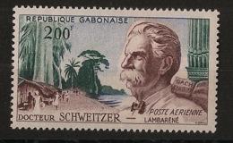 Gabon - 1960 - Poste Aérienne PA N°Yv. 1 - Dr Schweitzer - Neuf Luxe ** / MNH / Postfrisch - Gabon