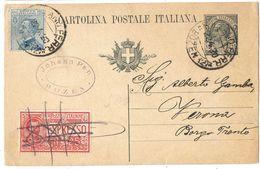R984) V.E.III 1919 CARTOLINA POSTALE 15 CENT. LEONI MILL.19 PER ESPRESSO - 1900-44 Vittorio Emanuele III