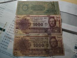 PARAGUAY. LOT DE 3 BILETS DE BANQUE DIFFERENTS. 1982 / 2005 - Paraguay