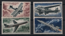 Gabon - 1962 - Poste Aérienne PA N°Yv. 7 à 10 - Avions - Neuf Luxe ** / MNH / Postfrisch - Gabon