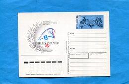 """RUSSIE-Carte Entier Postal Illustré""""Philexfrançe"""" 89 Neuf Impec 4 Kt - 1923-1991 USSR"""