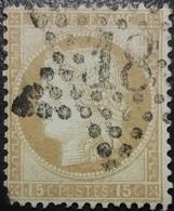 FRANCE Y&T N°55 Cérès 15c Bistre. Oblitéré étoile De Paris N°18 - 1871-1875 Ceres