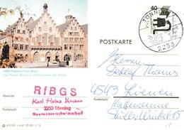 H 199) BRD 1975 BiPo Frankfurt A.M.: Der Römer, Rathaus (Stempel Tönning) - [7] Federal Republic