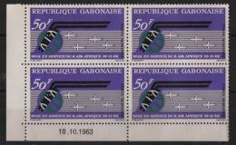 Gabon - 1963 - Poste Aérienne PA N°Yv. 17 - Air Afrique - Bloc De 4 Coin Daté - Neuf Luxe ** / MNH / Postfrisch - Gabon