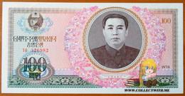 North Korea DPRK 100 Won 1978 AUNC/UNC АЭ-22a (without U/V Protection) Rare - Korea, North