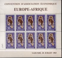 Gabon - 1963 - Poste Aérienne PA N°Yv. 18 - Europafrique - Feuille Complète - Neuf Luxe ** / MNH / Postfrisch - Gabon