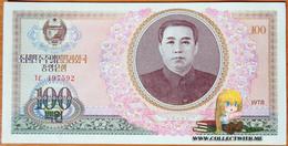 North Korea DPRK 100 Won 1978 UNC АЭ-22a (without U/V Protection) Rare! - Korea, North