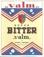"""3375 """" SUPER BITTER VALM-MILANO-CODOGNO """" ETICHETTA ORIGINALE - Etichette"""