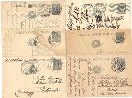 R984) V.E.III 1919 CARTOLINA POSTALE 15 CENT. LEONI LOTTO VIAGGIATE - 1900-44 Vittorio Emanuele III