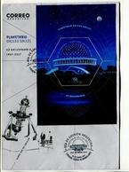 PLANETARIO GALILEO GALILEI, 50° ANIVERSARIO. ARGENTINA 2017 SOBRE DIA DE EMISION ENVELOPE FDC BLOCK FEUILLET HOJA -LILHU - Astronomùia