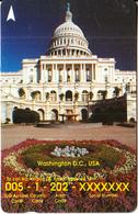 SINGAPORE(GPT) - Call USA/Washington($50), CN : 34SIGK(normal 0), Tirage %28000, Used - Singapur