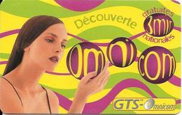 CARTE-PREPAYEE-OMNICOM-3Mn Gratuit-FEMME-FRANCE-31/08/2000-NON GRATTE-TBE - France