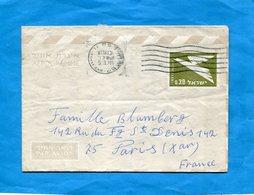 ISRAEL-Aérogramme 0.30  Pour Françe  Cad 1976 - Israele