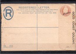 GOLD COAST REGISTERED LETTER FEE PAID SPECIMEN - Costa D'Oro (...-1957)