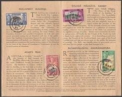 CEYLON 1947 CONSTITUTION SOUVENIR FOLDER FIRST DAY OF ISSUE KURUNEGALA - Ceylon (...-1947)