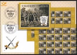 Estonia 2008 / Peasant War At Mahtra, 150th Anniversary / Prospectus, Leaflet, Brochure, Presentation Card - Estonia