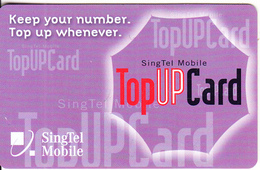 SINGAPORE - Singtel Mobile Prepaid Card $25, Exp.date 01/06/06, Used - Singapore