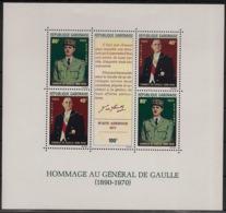 Gabon - 1971 - Bloc Feuillet BF N°Yv. 17 - De Gaulle - Neuf Luxe ** / MNH / Postfrisch - Gabon (1960-...)