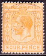 BAHAMAS 1912 SG #86 6d Bistre-brown Used Wmk Mult.Crown CA CV £9 - 1859-1963 Crown Colony