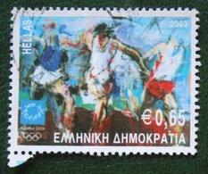 0.65 Euro Sport Olympic Games Laufen Running 2003 Mi 2186 Y&T - Used Gebruikt Oblitere HELLAS GRIECHENLAND GREECE - Griechenland