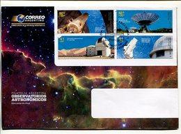 OBSERVATORIOS ASTRONOMICOS. ARGENTINA 2009 SOBRE DIA DE EMISION ENVELOPE FDC -LILHU - Astronomùia