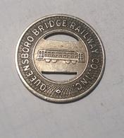 TOKEN GETTONE JETON TRANSIT STATI UNITI QUEENSBORO BRIDGE RAILWAY - Monétaires/De Nécessité