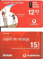 2-CARTES-PREPAYEE-ESPAGNE-GSM-VODAFONE-CANARIAS-Utilise-TBE- - Espagne