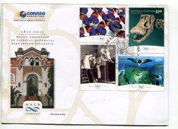 MUSEO ARGENTINO DE CIENCIAS NATURALES, BERNARDINO RIVADAVIA. ARGENTINA 2012 SOBRE DIA DE EMISION ENVELOPE FDC  -LILHU - Sellos
