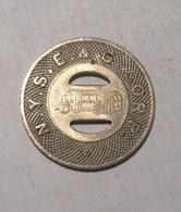 TOKEN GETTONE JETON TRANSIT STATI UNITI N.Y.S.E.&G.CORP. ELMIRA - Monetary/Of Necessity