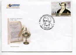 MARIANO MORENO 1778-1811. ARGENTINA 2011 SOBRE DIA DE EMISION ENVELOPE FDC  -LILHU - Celebridades