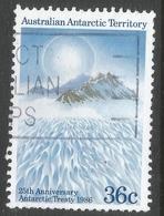 Australian Antarctic Territory. 1986 25th Anniv Of Antarctic Treaty. 35c Used. SG 78 - Australian Antarctic Territory (AAT)
