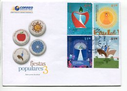 FIESTAS POPULARES 3. ARGENTINA 2010 SOBRE DIA DE EMISION ENVELOPE FDC  -LILHU - Culturas