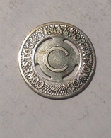TOKEN GETTONE JETON TRANSIT STATI UNITI CONESTOGA TRANSPORTATION  C. VERSIONE METALLO BIANCO - Monetary/Of Necessity