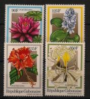 Gabon - 1984 - N°Yv. 554 à 557 - Fleurs / Flowers - Neuf Luxe ** / MNH / Postfrisch - Végétaux