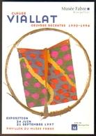 """Carte Postale """"Cart'Com"""" - Série Expo., Salons, Musées - Musée Fabre - Expo Claude Viallat - Arts"""