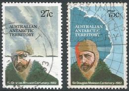 Australian Antarctic Territory. 1982 Birth Centenary Of Sir Douglas Mawson. Used Complete Set. SG 53-54 - Territoire Antarctique Australien (AAT)