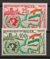 Niger - 1961 - Poste Aérienne PA N°Yv. 19 à 20 - Admission à L'ONU / UNO - Neuf Luxe ** / MNH / Postfrisch - ONU