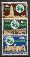 Niger - 1963 - Poste Aérienne PA N°Yv. 23 à 25 - Admission à L'UPU - Neuf Luxe ** / MNH / Postfrisch - UPU (Union Postale Universelle)