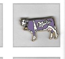 Pin's  Animal  VACHE  Sur  Publicité  Marque  Chocolat  MILKA - Animaux