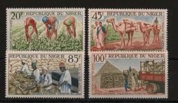 Niger - 1963 - Poste Aérienne PA N°Yv. 31 à 34 - Campagne Arachidière - Neuf Luxe ** / MNH / Postfrisch - Agriculture