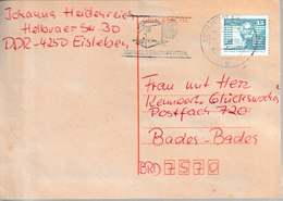 H 179) DDR 1990 MWSt Lutherstadt EISLEBEN: Schweissautomaten Schweissen Handwerk - Métiers