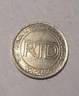 TOKEN GETTONE JETON TRANSIT STATI UNITI COLORADO R.T.D. REGIONAL - Monétaires/De Nécessité