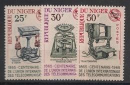 Niger - 1965 - N°Yv. 162 à 164 - UIT / Telecoms - Neuf Luxe ** / MNH / Postfrisch - Télécom